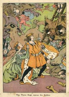 """Hans Christian Andersen """"The Tinder Box and Other Stories"""". Illustrated by Helen Statton"""