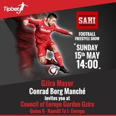 This Sunday 15 May at 2pm, our Tipbet Brand Ambassador Saki is performing in Gzira Gardens, we are hoping that as many of you can attend with family and friends to see this entertaining event!  Visit Saki's website for more information http://sakifreestyle.com/