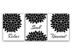 Attrayant Relax Soak Unwind, Bathroom Wall Art, INSTANT DOWNLOAD Bath Art, Modern  Bathroom Decor, Red Grey Black Bathroom Decor   BATH61 | Pinterest |  Bathroom Wall ...