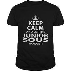 JUNIOR SOUS T-Shirts, Hoodies. VIEW DETAIL ==► https://www.sunfrog.com/LifeStyle/JUNIOR-SOUS-118054573-Black-Guys.html?id=41382