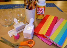 Faux Stained Glass Candleholders (the original post with instructions) via Makezine