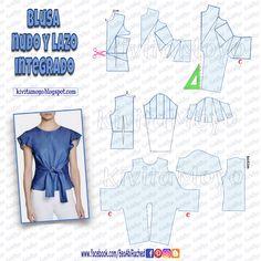 PANTALON CARGO DESMONTABLE Dress Sewing Patterns, Blouse Patterns, Clothing Patterns, Pattern Draping, Sewing Blouses, Sewing Lessons, Pattern Cutting, Mode Hijab, Diy Dress