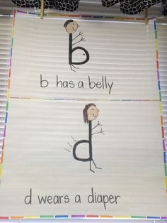 B and D reversal anchor chart! Cute, easy way to remember which one is which.