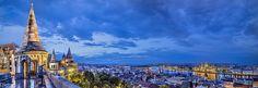 Panorámica de Budapest desde el Bastión de los Pescadores