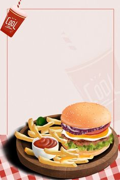 Elemental Background Of Fast Food Hamburg Hot Dog Chips Coke Food Design, American Fast Food, Gourmet Chicken, Coconut Peanut Butter, Healthy Comfort Food, Food Backgrounds, French Food, French Fries, Food Menu