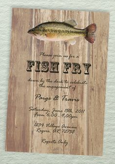Fish Fry Party Invitations Fish fry Party invitations and Fish