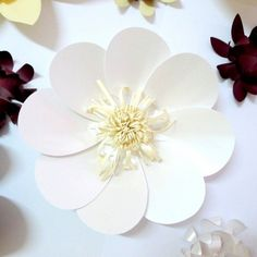 """Бумажные цветы """"Ромашка"""""""