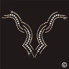 Neckline Rhinestone Diamante Transfer Iron On Hotfix Gem Crystal Motif Applique Hand Work Embroidery, Gold Embroidery, Embroidery Patterns, Embroidery Stitches, Rhinestone Transfers, Silver Rhinestone, Crystal Design, Embroidery Techniques, Beading Patterns