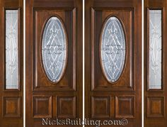 Exterior Solid Mahogany Double Doors with Sidelights Double Doors Exterior, Double Entry Doors, Front Doors, Door Entryway, Home Projects, New Homes, Modern, House Ideas, Windows