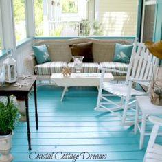 Blue Porch Floor