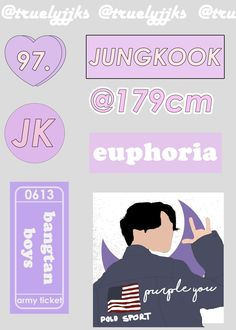 Discover recipes, home ideas, style inspiration and other ideas to try. Pop Stickers, Tumblr Stickers, Printable Stickers, Tumblr Kpop, Kpop Diy, Bullet Journal Ideas Pages, Purple Aesthetic, Aesthetic Stickers, Good Notes