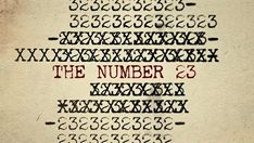 Imaginary Forces' opening title sequence for the film The Number 23 features spreading blood splatter and a changing typography featuring historic events surrounding, what else, the infinite variations on the integer of Graphic Design Trends, Graphic Design Print, Art Of The Title, Fiction, Adobe Illustrator Tutorials, Title Sequence, Card Tricks, Movie Titles, Wedding Quotes