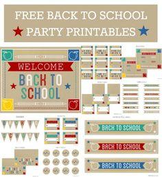 Free Back to School Printables #freeprintables #backtoschool