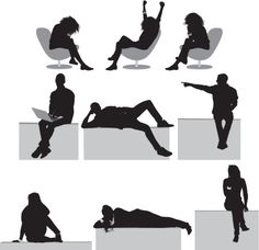 View top-quality illustrations of Silhouette Of People Sitting In Different Poses. Find premium, high-resolution illustrative art at Getty Images. People Png, Cut Out People, Architecture People, Architecture Graphics, Photoshop Rendering, Photoshop Elements, Person Sketch, Person Silhouette, People Illustration