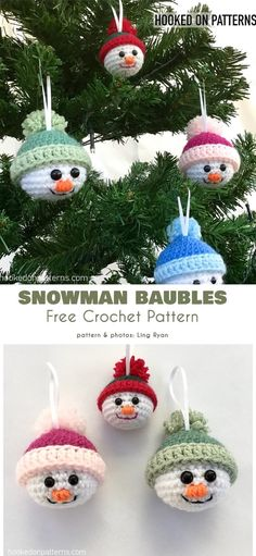 Funny Christmas Baubles Free Crochet Patterns Always aspired to figure out how to knit, however uncertain where to begin? This particular Overall Beginner Knitting Co ideen weihnachten Funny Christmas Baubles Free Crochet Patterns ideen Weihnachten Crochet Snowman, Crochet Christmas Ornaments, Holiday Crochet, Christmas Snowman, Christmas Humor, Christmas Time, Christmas Crafts, Christmas Decorations, Christmas Patterns