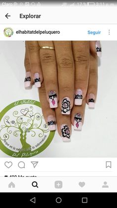 Nails Design, Pandora Charms, Beauty, Work Nails, Amor, Frases, Short Nails, Nail Designs, Nail Art