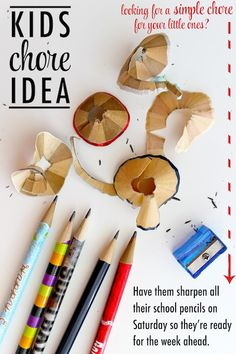 Kids chore idea - age-appropriate chores list for all ages