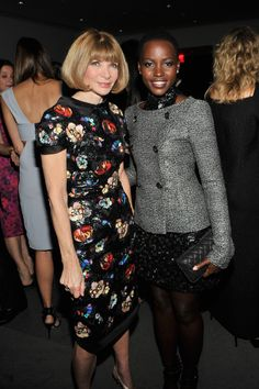 It is a well-known fact that Vogue editor Anna Wintour spends the majority of her time aspiring to Lupita's flawlessness.*