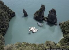 Another reason to visit Thailand, this is a floating movie theater.