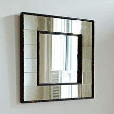 Antique Tiled Square Wall Mirror #WestElm  Sale $49.99 - 3 for behind couch