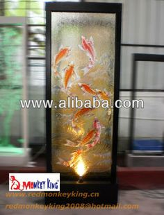 floor standing indoor waterfall fountain water curtain glass fountain