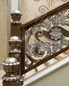 A staircase grill is not just a safety feature. The newels, balusters, and grills of a staircase can make a real design statement and bring a sense of Railing Design, Gate Design, Staircase Design, Staircase Railings, Stairways, Stair Posts, Modern Villa Design, Modern Stairs, Grill Design