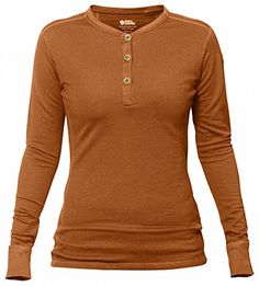 Fjällräven Women's Lappland Merino Henley Autumn Leaf L ** Want to know more, click on the image.