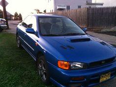 97' Subaru Impreza. I call her Ivy!