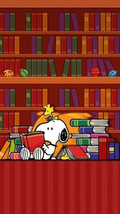 Snoopy and Woodstock - Reading ALL the Books Meu Amigo Charlie Brown, Charlie Brown And Snoopy, Charlie Brown Quotes, Peanuts Cartoon, Peanuts Snoopy, Snoopy Cartoon, Peanuts Comics, Peanuts Characters, Cartoon Characters