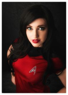 Star Trek cosplay rocking the red shirt