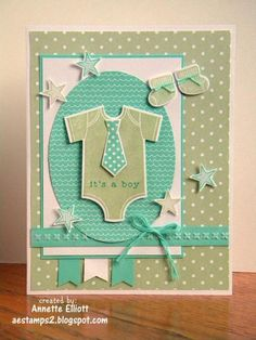 FMS#135: It's a boy! by AEstamps2 - Cards and Paper Crafts at Splitcoaststampers