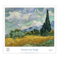 Vincent van Gogh: Wheat Field with Cypresses Poster