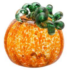 George Kennard: Mini Pumpkin, Transparent  #cmogshops #glass #pumpkin #decor #fall