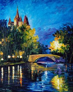 Bridge Over Time by Leonid Afremov: