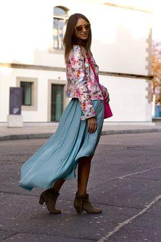 Skirt & Jacket : Zara,Tee: Isabel Marant,Boots: Sam Edelman, Bag: Celine