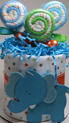 NEW Mini Diaper Cake/ Cake Topper with by BabySweetTreats on Etsy, $24.00