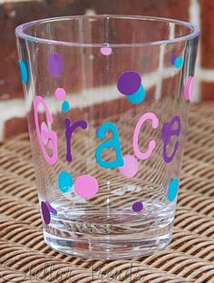 Small acrylic tumbler just name. Fancy Foods, Name Games, Acrylic Tumblers, Party Fun, Creative Food, Best Part Of Me, Shot Glass, Purple, Blue