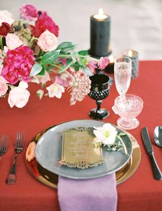 Moody Marsala Editorial on Green Wedding Shoes.  Floral: The Southern Table | Planning and Design: Birds of A Feather | Photo: Charla Storey Photography | Menu: Southern Fried Paper