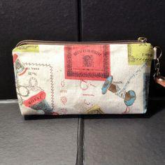 zip pouch sewing bobbin cosmetic pouch gadget by KatunKatunBags