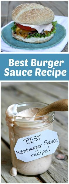 The absolute Best Burger Sauce recipe - for your home-grilled burgers! Great recipe for a Labor Day BBQ! From RecipeGirl.com
