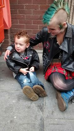 Punk Mom & Her Son..Very Cute