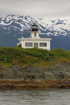 Lighthouse outside Juneau, Alaska