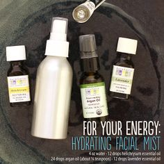 Hydrating facial mist with lavender, argan and helichrysum