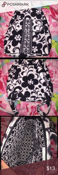Backpack Vera Bradley classic back pack. Great for school or for a busy active day and don't have time to hull a purse around with you. Vera Bradley Bags Backpacks