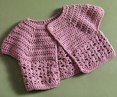 Bebop / Urban Girl Cropped Cardi  by Lion Brand Yarn - free girls sweater crochet pattern