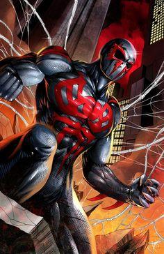 #Spiderman #2099 #Fan #Art. (Spiderman 2099) By: PROSSCOMICS. (THE * 5 * STÅR * ÅWARD * OF: * AW YEAH, IT'S MAJOR ÅWESOMENESS!!!™)[THANK Ü 4 PINNING!!!<·><]<©>ÅÅÅ+(OB4E)