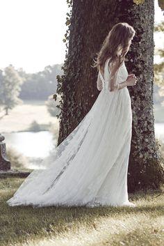 Robe de mariée SANSON DENTELLE - Printemps-été 2016 - Delphine Manivet