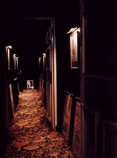 the hallway of Serge Gainsbourg's Paris house.  http://under-overground.com/serge-gainsbourg.html