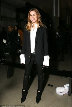 Fashionista:Olivia Palermo rocks a monochrome look at the Zadig & Voltaire Fall 2017 Show Front Row - February 13, 2017 #nyfw