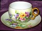 Bavaria Hand Painted Flower Cup Saucer | eBay